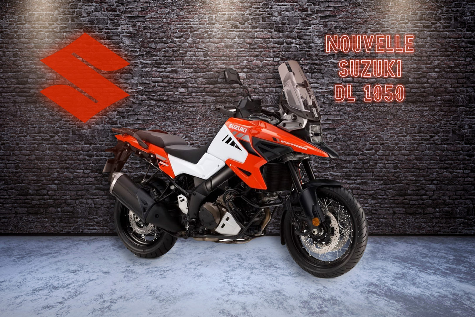 Nouvelle Suzuki DL 1050 rouge